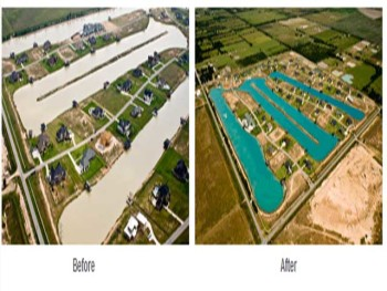 Lake Clearing in a Housing Community
